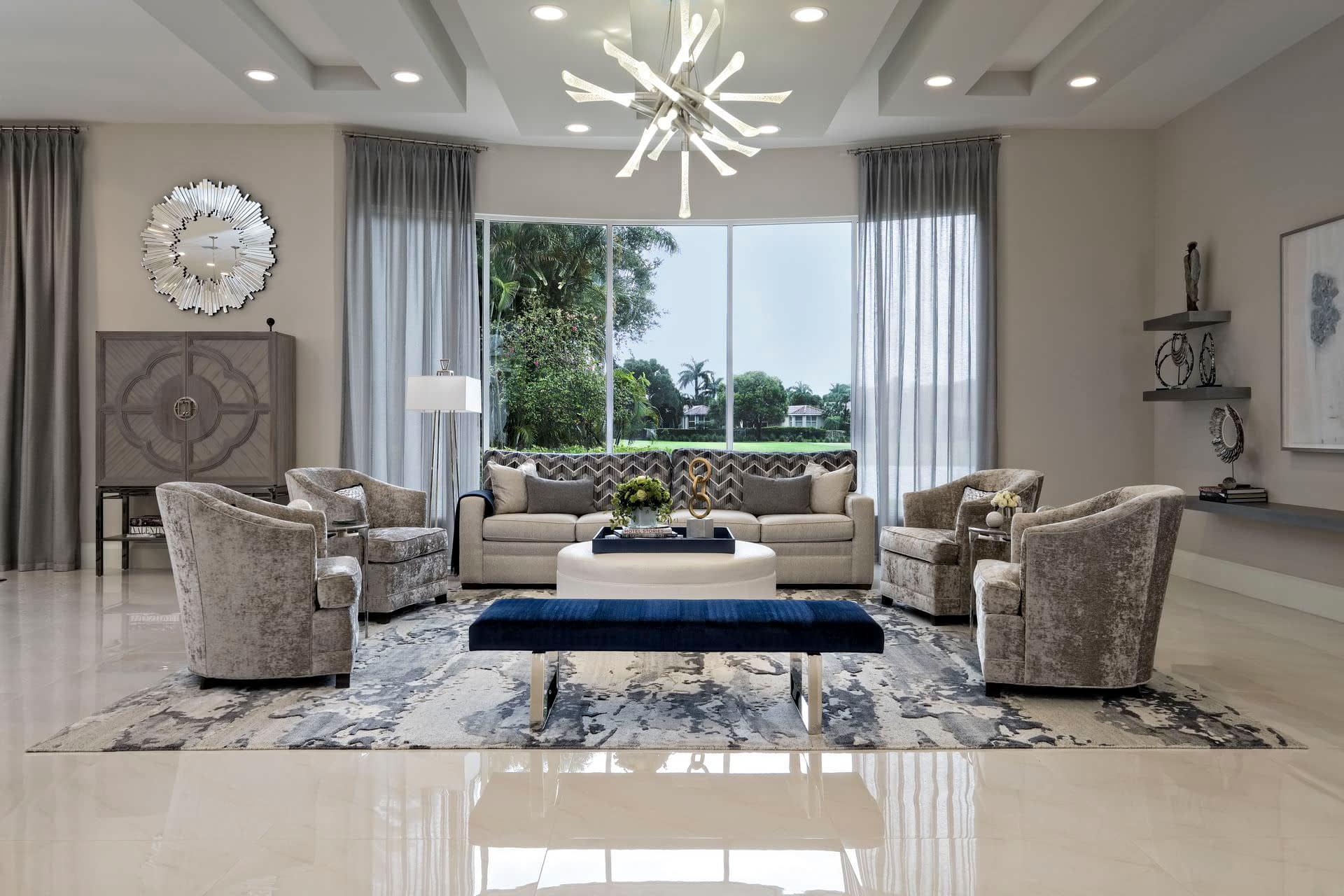 grey modern living room space