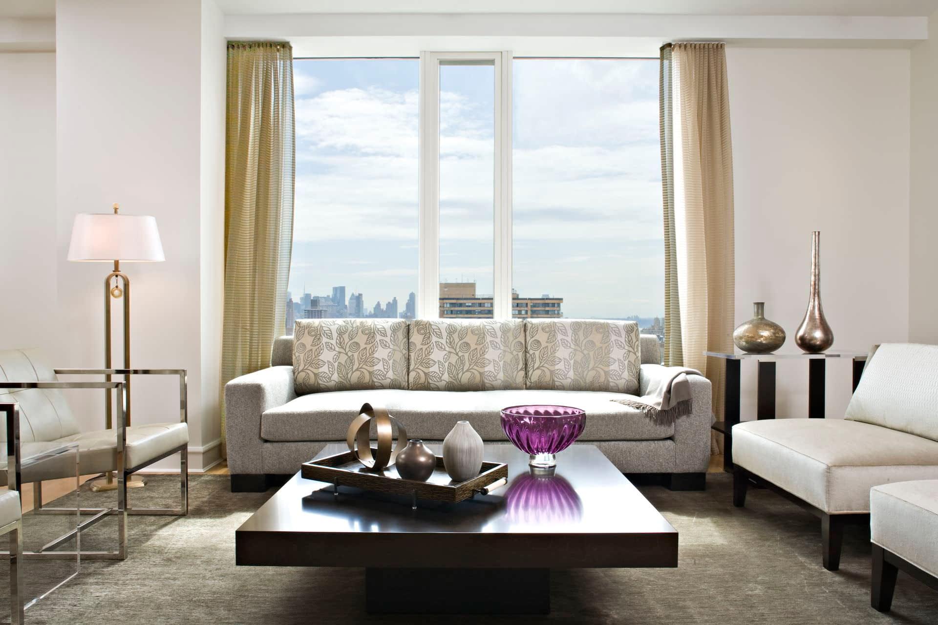 hubley design interiors high rise living room design