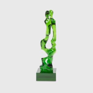 quality green modern sculpture from Hubley