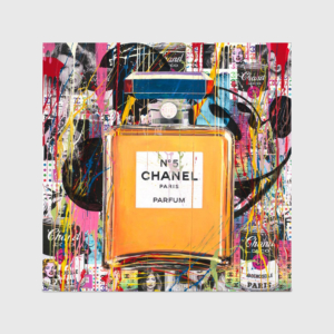 high end art print chanel parfum